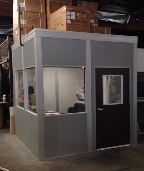 Modular Warehouse Office with Storage Roof